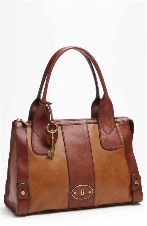 Fossil Satchel Premium 2 lyst fossil vintage reissue satchel in brown