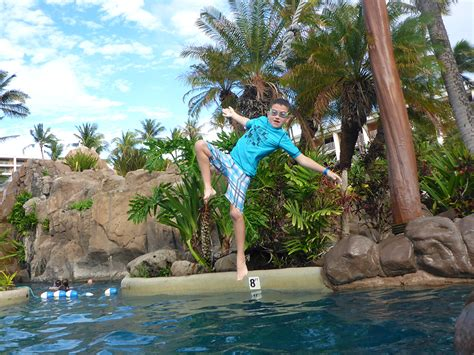 pool rope swing staying at the grand wailea a luxury resort for families