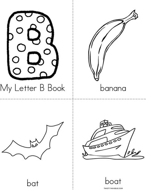 Letter Book My Letter B Book Twisty Noodle