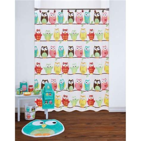 Owl Shower Curtain And Bath Accessories By Saturday Owl Shower Curtain And Bath Accessories By Saturday