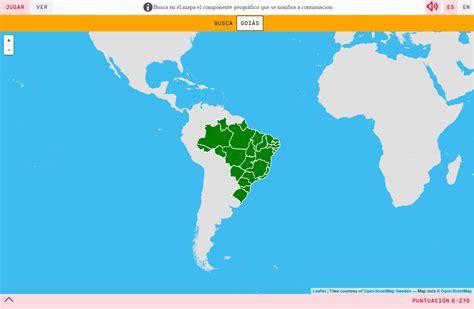 imagenes satelitales brasil mapa para jugar 191 d 243 nde est 225 estados de brasil mapas