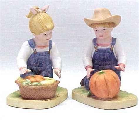 homco denim days 1985 boy figurines home interior