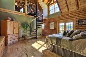 Two Story Master Suite by Two Story Log Cabin Master Suite Rustic Nashville By