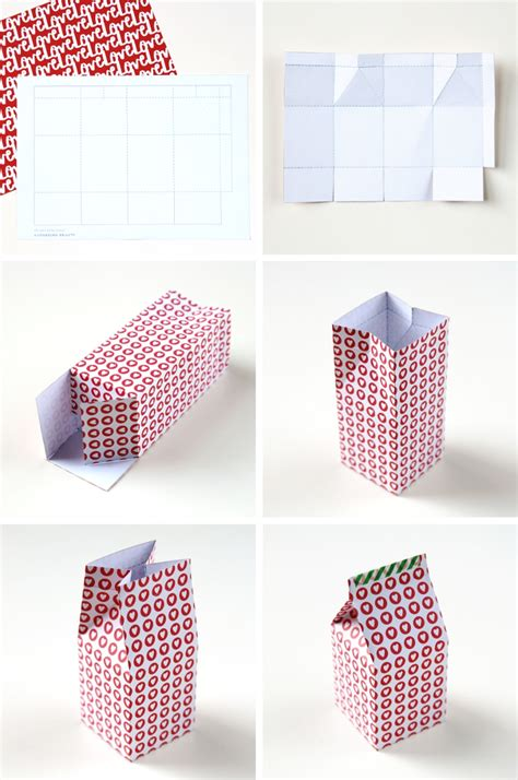 diy printable milk carton gift boxes gathering beauty