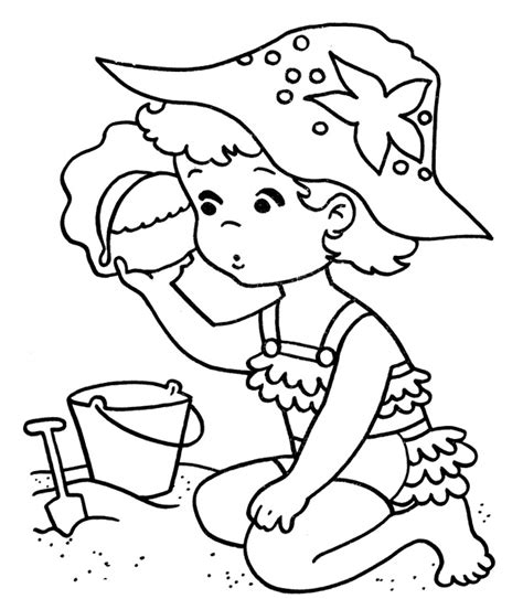summer beach coloring pages az coloring pages