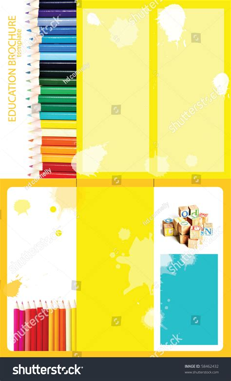 sided tri fold brochure template educational themed tri fold brochure template 8 5x11 2 sided stock photo 58462432