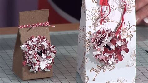 Handmade Paper Bags Tutorial - paper flower gift box tutorial docrafts creativity tv