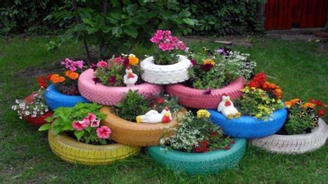 how to use tires as garden planters ᴴᴰ