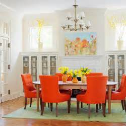 Orange Dining Rooms by 39 Bright And Colorful Dining Room Design Ideas Digsdigs