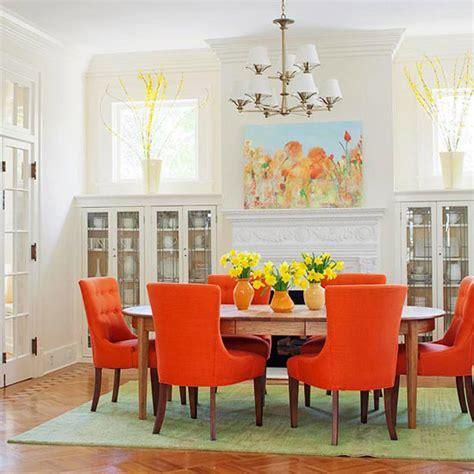 orange dining rooms 39 bright and colorful dining room design ideas digsdigs