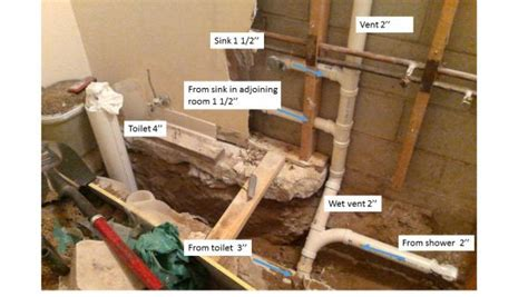 how to add plumbing for a new bathroom adding a shower to a basement bathroom doityourself com