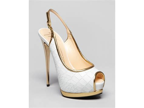 high heel pumps giuseppe zanotti peep toe platform pumps high heel