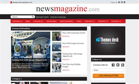 theme newspaper free news theme themesdesk wordpress template wordpress