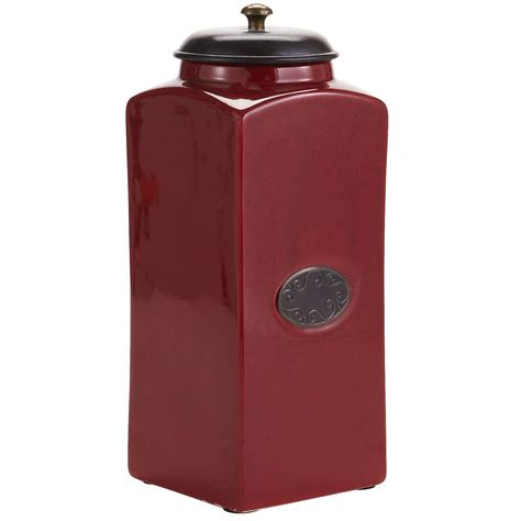 red ceramic canisters for the kitchen chadwick kitchen canisters red pier 1 imports