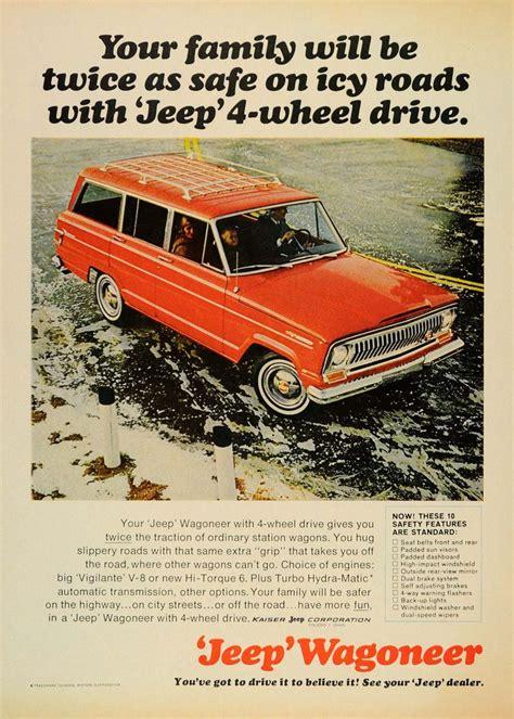 vintage jeep ad 1966 ad kraiser red jeep wagoneer vintage 4 wheel drive