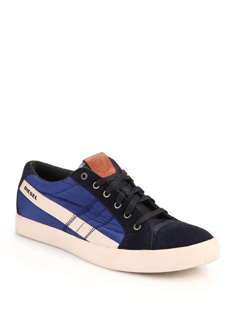 diesel sneakers lyst diesel d string suede leather sneakers for