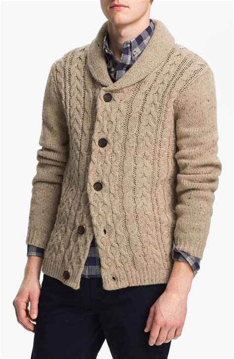 cable knit cardigan mens topman cable knit shawl collar cardigan in for color