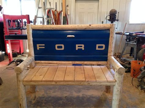 tailgate bench diy tailgate bench car truck parts repurposed pinterest