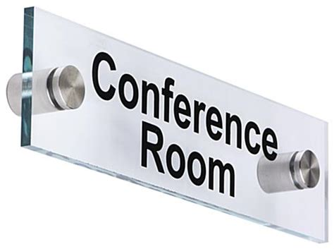 conference room signs conference room sign clear with standoffs