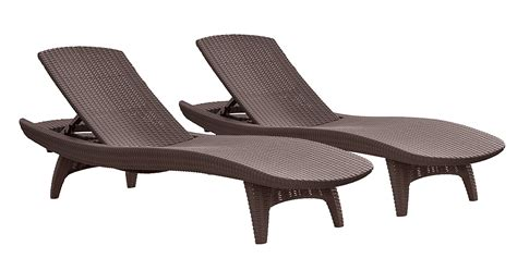 chaise chairs outdoor keter pacific 2 pack all weather adjustable outdoor patio
