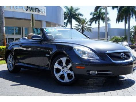 how to learn about cars 2008 lexus sc auto manual buy used 2008 lexus sc 430 clean carfax report in florida