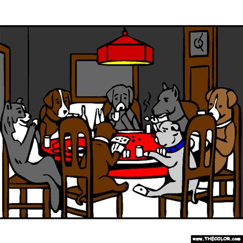 dogs playing poker coloring page free online coloring pages thecolor