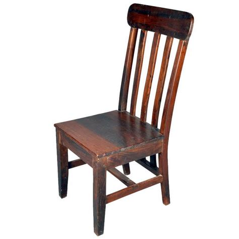 2 lincoln study bannister back mango wood dining chairs