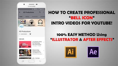 Youtube Free Bell Icon Intro Template After Effects Youtube Bell Icon Intro Template After Effects