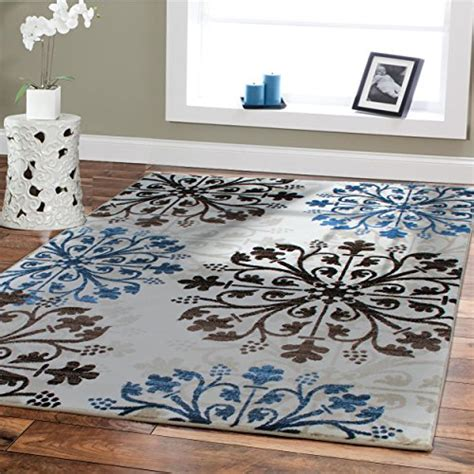 Dining Room Rug Clearance Premium Soft Rugs For Living Room Luxury 5x8 Blue