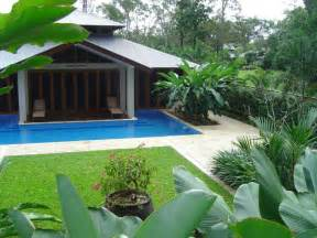 Concept Design For Tropical Garden Ideas Decorative Tropical Landscape Ideas For Modern Home Design With Small Swimming Pool And Simple