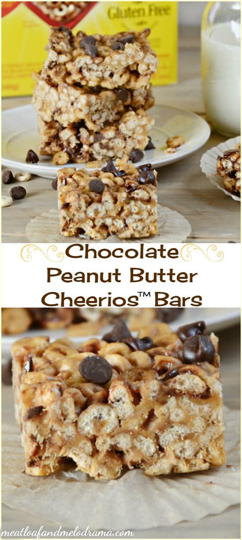 peanut butter bars with chocolate on top chocolate peanut butter cheerios bars and a chance to