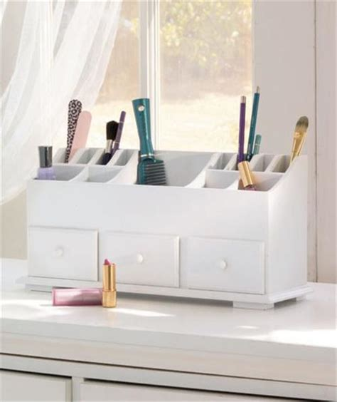 new wooden vanity cosmetic makeup storage organizer