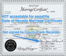 Las Vegas Vital Records Marriage Nevada Apostille Apostille Service By Apostille Net