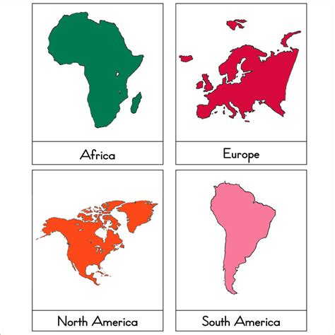 printable montessori continent map simple world map outline for kids google search social