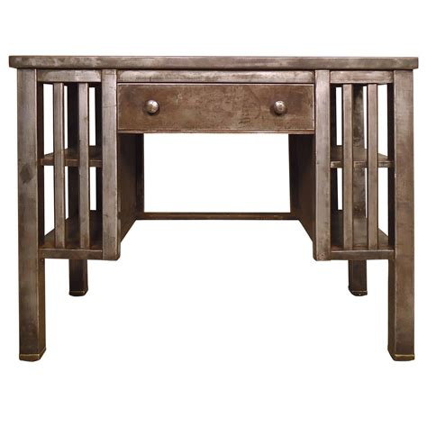 stylish antique industrial metal desk at 1stdibs vintage industrial metal desk at 1stdibs