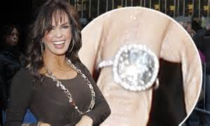 marie osmond proudly shows off new sparkling ring after