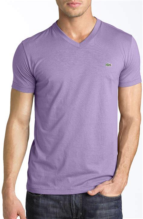 Tshirt Mhorpins 5 lyst lacoste v neck tshirt in purple for
