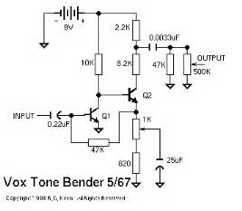 vox tone bender which schematic is correct