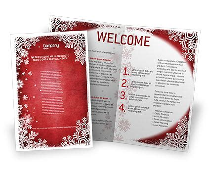 christmas theme brochure template design and layout