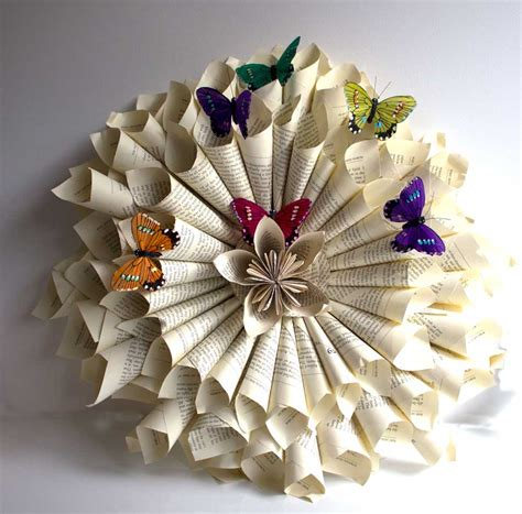 Paper Wreaths - paper wreath