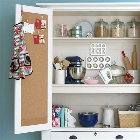 Inside Kitchen Cabinet Organizers by Storage Smarts Bulletin Board On The Inside Of A Cabinet