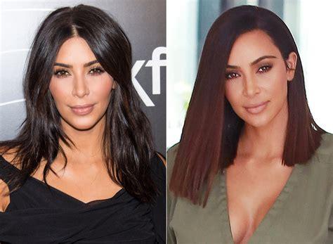 kim kardashian long bob hair kim kardashian s new lob pretty much defines hairgoals