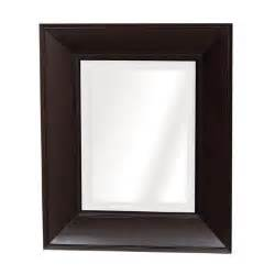 espresso recessed medicine cabinet 21 in x 25 in recessed or surface mount mirrored concave