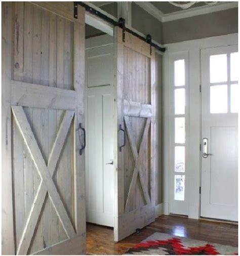 Sliding Barn Doors Interior Overlapping Barn Doors