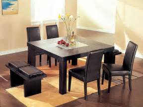 glass top modern dinner table set dining