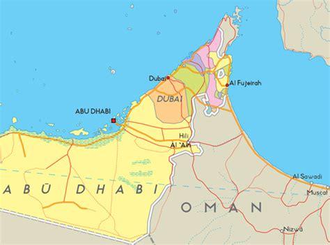 emirats arabes unis carte