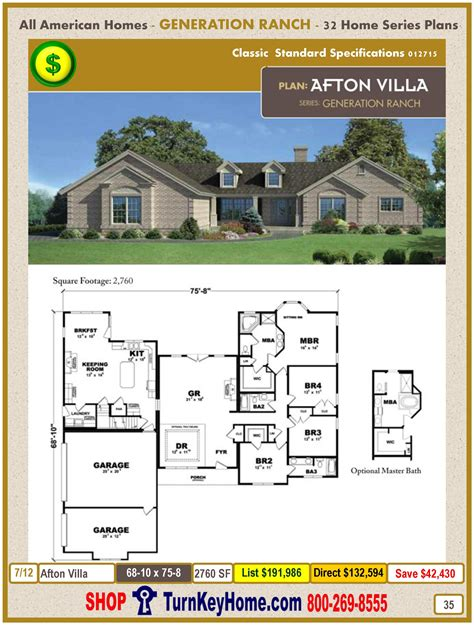 house plan afton villa modular home price bath floor all