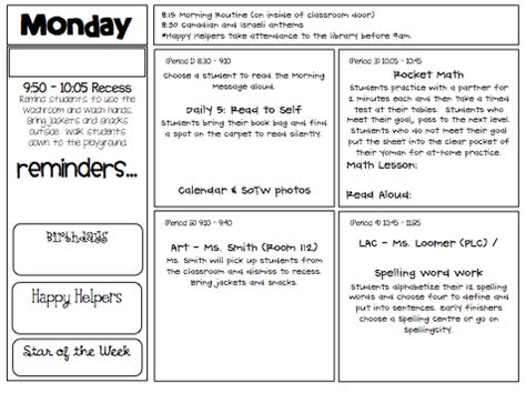 day plan template for teachers day plan template primary teaching resources