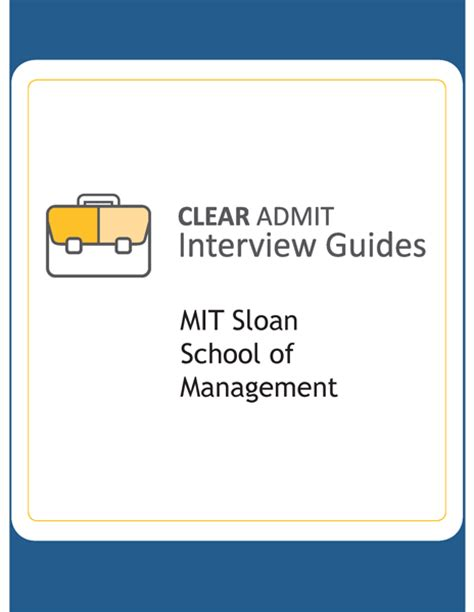 Mit Sloan Mba Dates Clearadmit by Guide Mit Sloan School Of Management