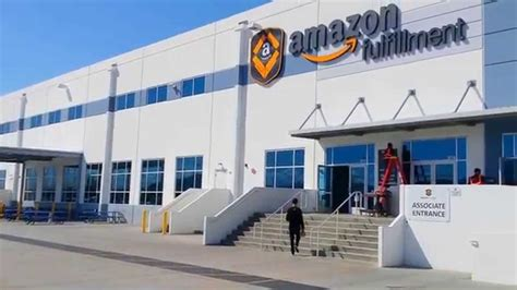 amazon warehouse outside the massive amazon fulfillment center ont2 and